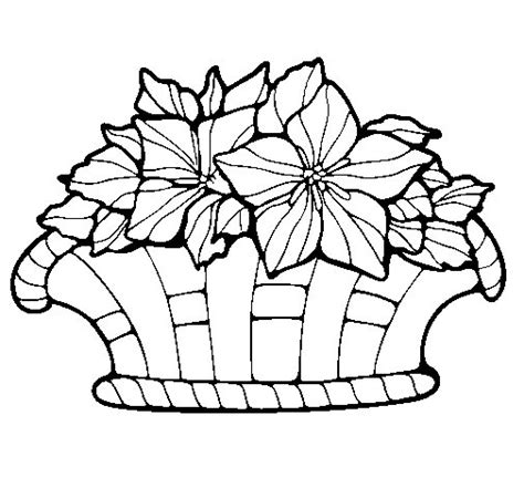 coloring pages of flower baskets basket of flowers 8 coloring page coloringcrew com