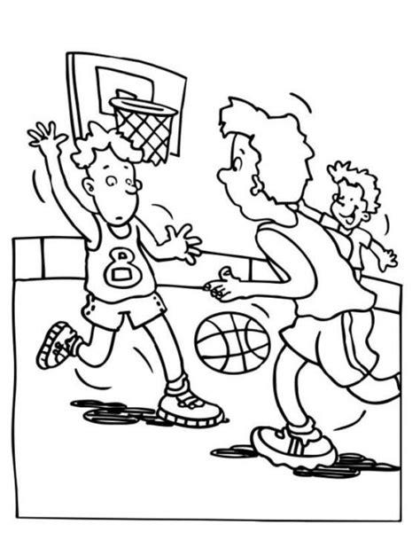 dibujos niños jugando baloncesto dibujo de un ni 241 o jugando basquetbol imagui