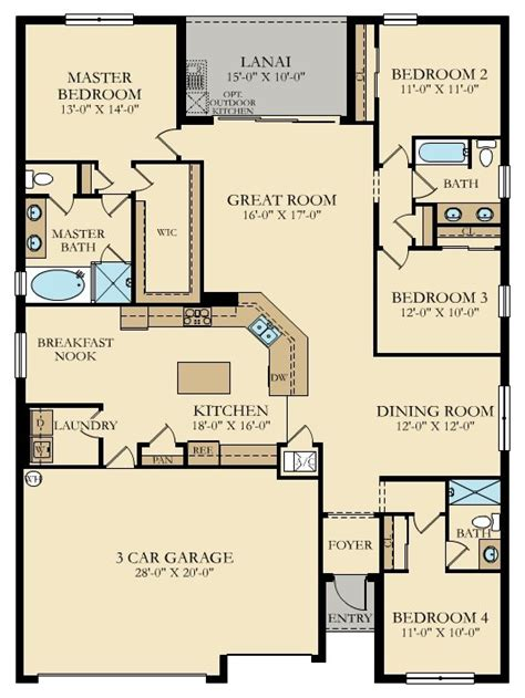 the stanford new home plan in bonita national manor homes