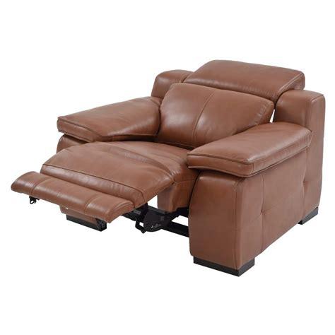 tan leather recliner gian marco tan power motion leather recliner el dorado