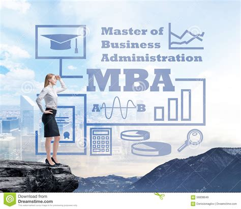 Future Of Mba Degree by Businessman Standing On A Rock And Looking At The Future