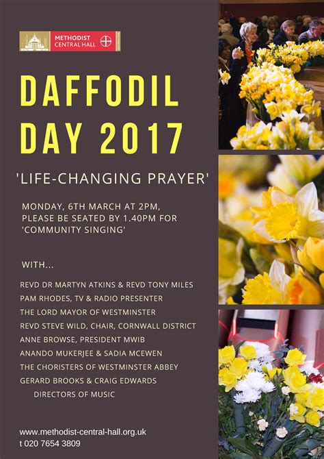 Date Of S Day 2017 Daffodil Day 2017 Methodist Central Westminster