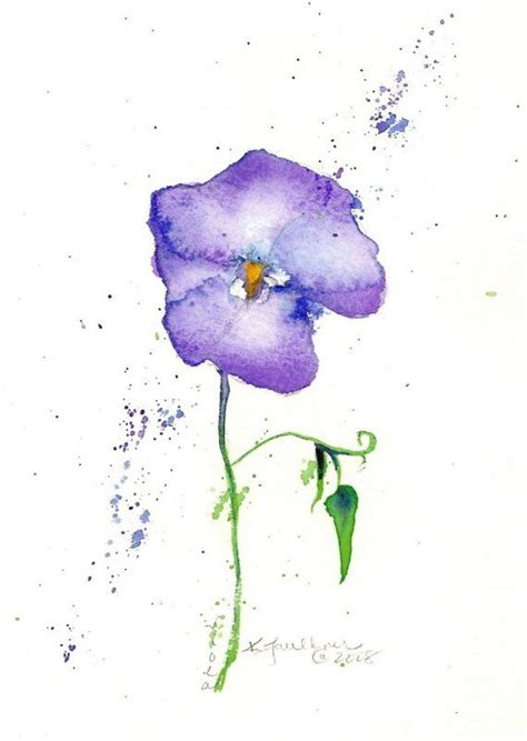 watercolor tattoo violet top 46 ideas about violets on watercolour