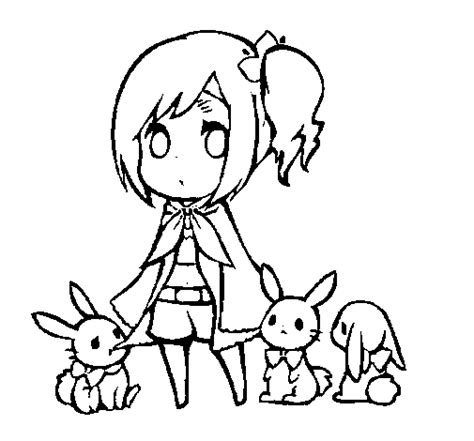 girl bunny coloring pages girl with bunnies coloring page coloringcrew com