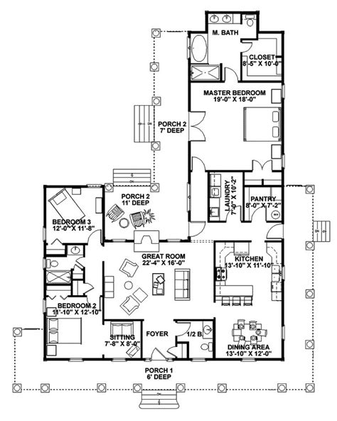 floor plans for ranch homes with wrap around porch 17 best images about one story ranch farmhouses with wrap