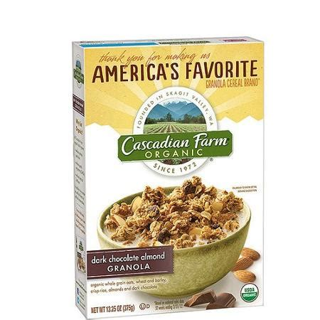 $2.00 in cascadian farm coupons (organic cereal or snack bars)