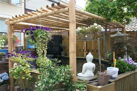 Garden Decoration With Bamboo by Bamboo Pergola Garden Decoration With Bamboo