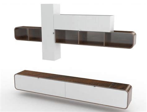 soggiorno bianco soggiorno bianco e noce camber mobile sospeso made in italy