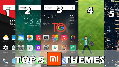themes redmi 4x top 5 themes 2017 miui 8 themes best for redmi note