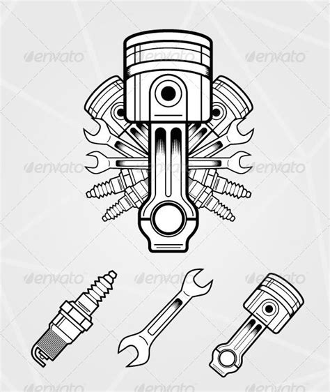 engine parts tattoo designs best 25 engine ideas on motor