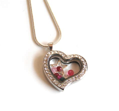 floating charm locket memory glass locket s day