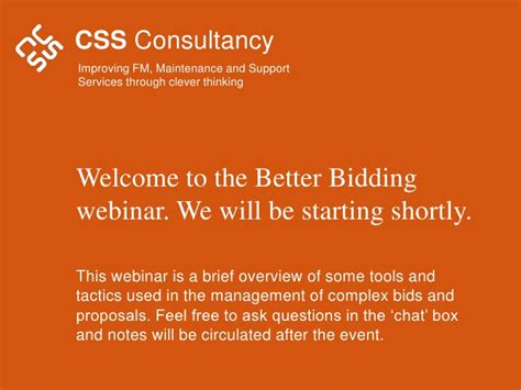 better bidding better bidding for facilities management contracts