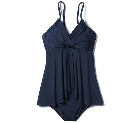the best swimsuits for all body types real simple garnet hill retro ruched overlay one piece the best