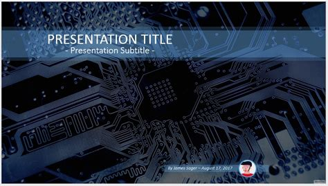 Free Circuit Board Powerpoint 74003 Sagefox Powerpoint Electronics Engineering Ppt Templates Free