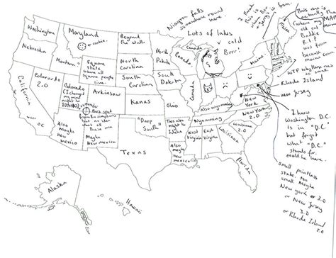 50 states map labeled in tried to label the 50 us states on a map