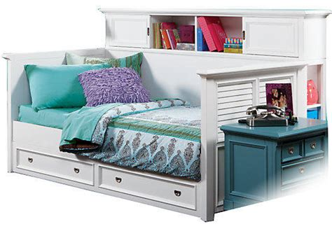 belmar white 4 pc bookcase daybed from rooms to go
