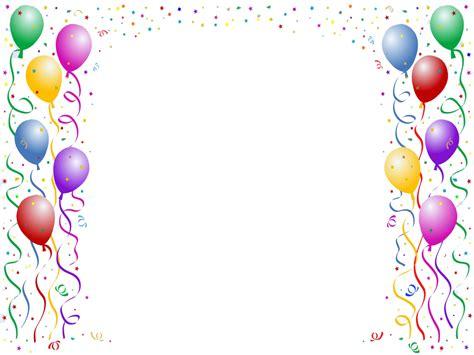 Confetti Dan Work birthday border clipartion