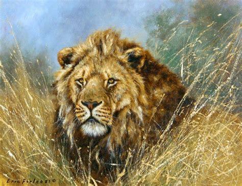imagenes realistas de animales cuadros pinturas oleos pinturas al oleo leones de eric