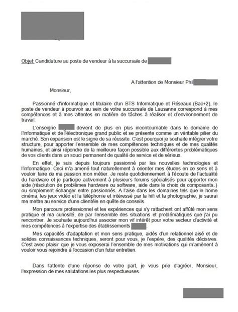 Lettre Motivation Ecole De Commerce Exemple Lettre De Motivation Pour Ecole De Commerce