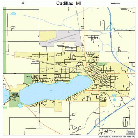 cadillac city michigan cadillac michigan map 2612320
