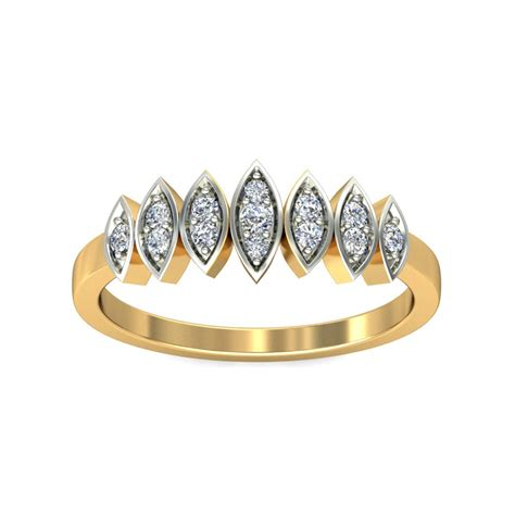 designer engagement rings real certified 0 08 ct solid gold