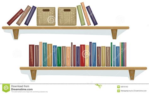 Mensole Libri Mensola Con I Libri Illustrazione Vettoriale