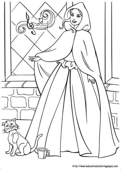 Barbie Princess And Pauper Coloring Pages Educational Princess And The Popper Printable