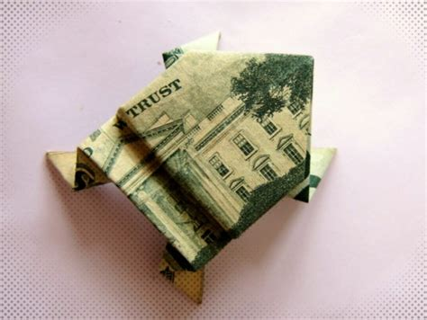 Origami Money Frog - dollar bill origami frog gifts origami