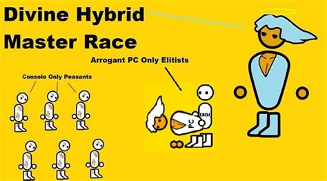 Pc Master Race Meme - divine console and pc master race the glorious pc gaming
