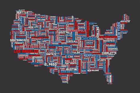 typography map coolest maps of usa on usa maps maps and us states