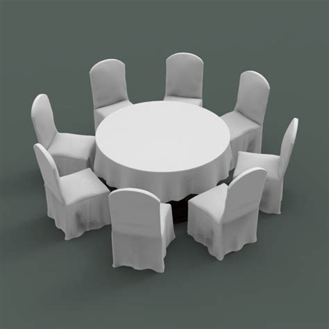banquet tables and chairs 3d table chair banquet model