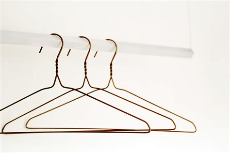 Bathroom Craft Ideas by Copper Wire Clothes Hangers