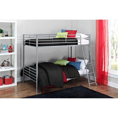 convertible bunk beds mainstays twin over twin convertible bunk bed multiple