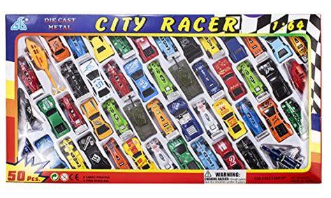 amazoncom 50 pc race car set metal plastic die cast die cast metal plastic toy car a massive set of 50 toy