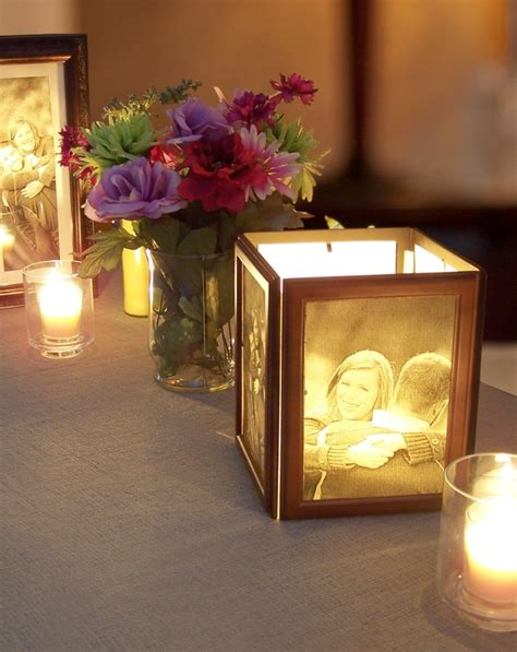 centerpieces pictures sch 246 ne windlichter basteln mit gedruckten familienfotos