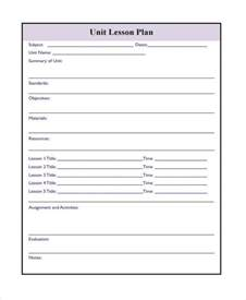 Printable Lesson Plan Template by 17 Lesson Plan Sles