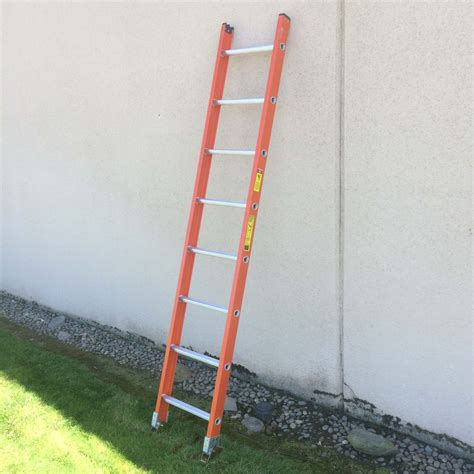 single section ladder fiberglass ladders industrial ladder and scaffolding inc