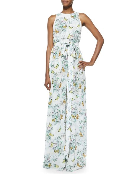 Buterfly Maxi erin fetherston sleeveless butterfly print maxi dress in blue lyst