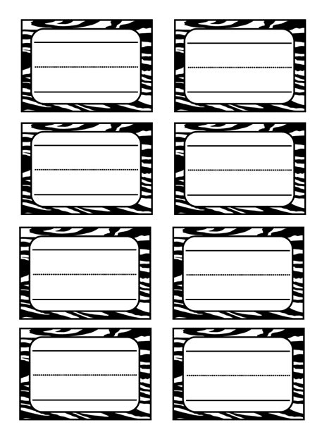 6 Best Images Of Zebra Label Borders Free Printable Zebra Print Free Zebra Print Name Tags Zebra Label Templates