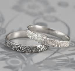 silver wedding bands birds of a feather silver wedding band swirl feather