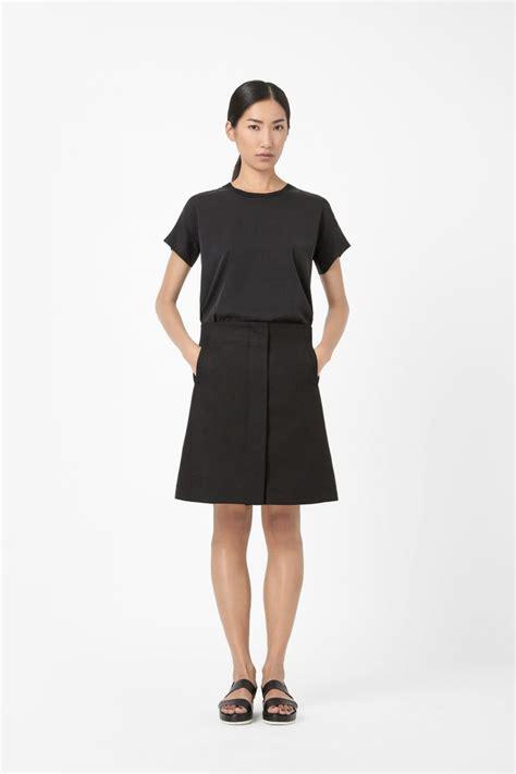 Gyefa Flowery Overlap Midi Skirt black high waisted skirt 2017 fashion skirts part