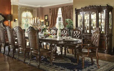 homey design off white 12 pc traditional dining room set formal traditional vendome cherry 11 pc dining room set ebay