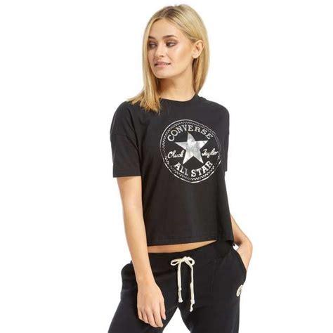 Kaost Shirt Converse Classic classic converse clothing converse chuck crop t shirt t shirts black high quality