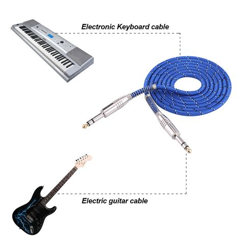 35mm To 35mm Cable Length 1m To 1 10m bass guitar 6 35mm mono to audio cable