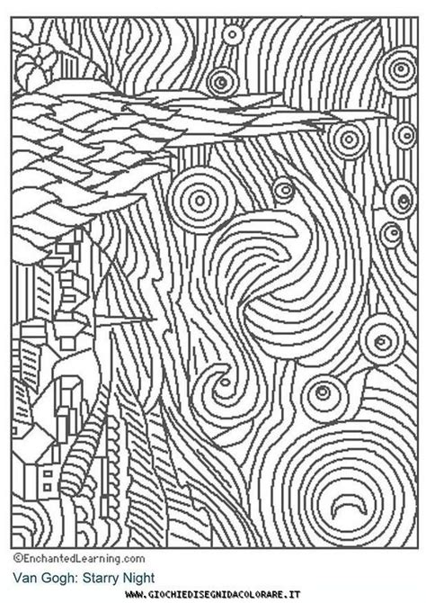 coloring pages for gogh discover and save creative ideas