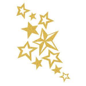Skin Sugar Glitter: Gold Star Cluster Temporary Tattoo   Tat    Polyvore