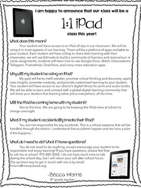 Parent Letter About Technology 496 Best Pd And Iresources Images On