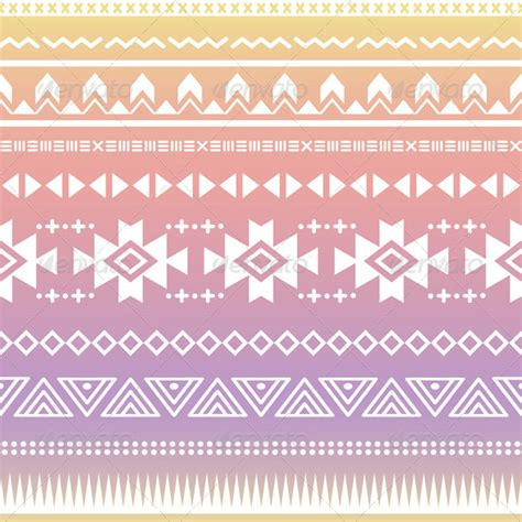 aztec pattern name tribal aztec ombre seamless pattern graphicriver