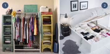 Clothing Storage Ideas For Small Spaces Unique Clothing Organization Ideas For Small Spaces Curbly