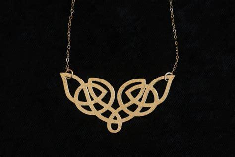 gold celtic necklace celtic knot etnic necklace